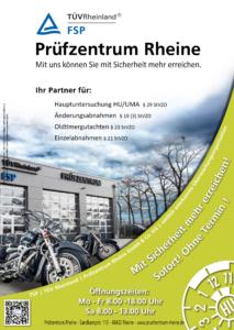 Poster Hauptuntersuchung Motorrad